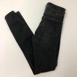 Topshop Moto Jamie High Waist Black Skinny Jeans